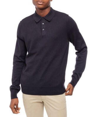 Filippa K M. Knitted Polo Shirt Ink Grey