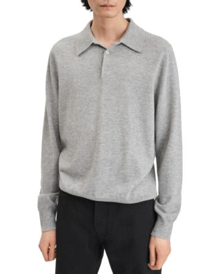 Filippa K M. Knitted Polo Shirt Light Grey