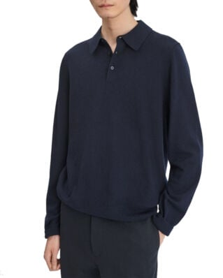 Filippa K M. Knitted Polo Shirt Navy