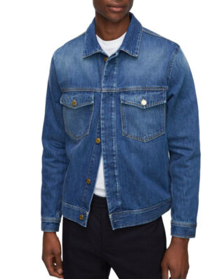 Filippa K M. Leo Washed Denim Jacket Mid Blue