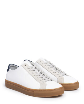 Filippa K M. Morgan Low Mix Sneakers White/Light Grey Mix
