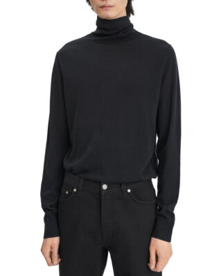 Filippa K M. Silk Mix Roller Neck Sweate Black