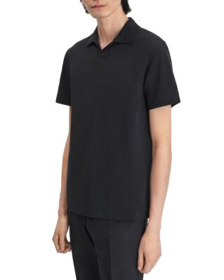 Filippa K M. Soft Lycra Polo T-Shirt Black