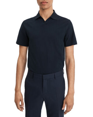 Filippa K M. Soft Lycra Polo T-Shirt Navy
