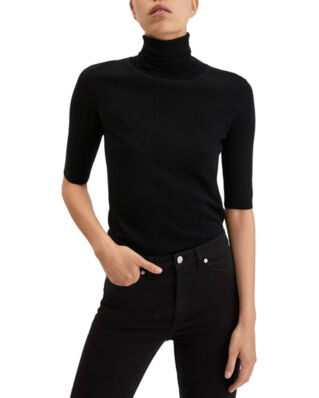Filippa K Merino Elbow Sleeve Top Black