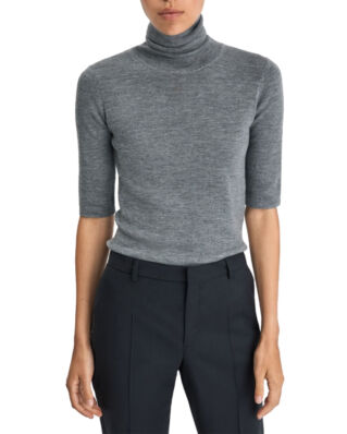 Filippa K Merino Elbow Sleeve Top Mid Grey M
