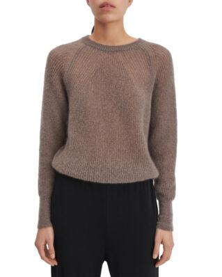 Filippa K Mohair R-neck Sweater Dark Taupe