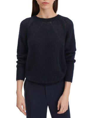 Filippa K Mohair R-neck Sweater Navy