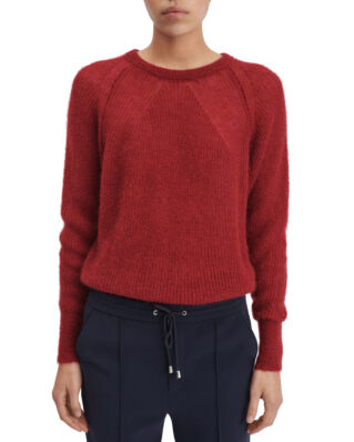 Filippa K Mohair R-neck Sweater Raspberry