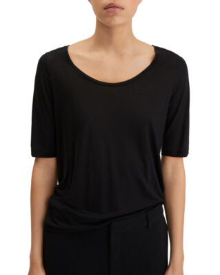 Filippa K Tencel Scoop-neck Tee Black