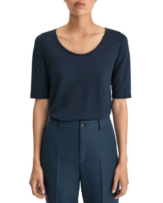 Filippa K Tencel Scoop-neck Tee Indigo