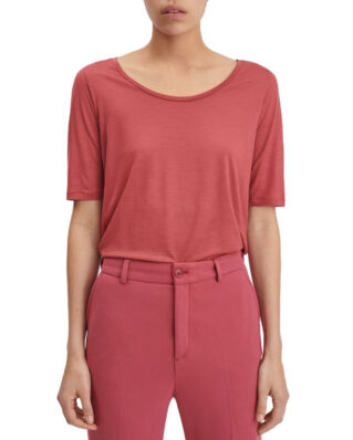 Filippa K Tencel Scoop-neck Tee Raspberry