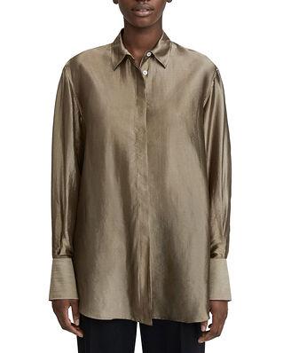Filippa K Akira Metallic Shirt Grey Taupe