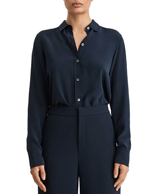 Filippa K Classic Silk Shirt Navy