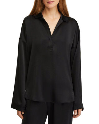 Filippa K Lovisa Satin Shirt Black