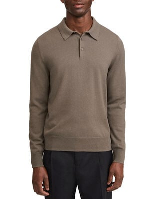 Filippa K M. Knitted Polo Shirt Dark Taupe