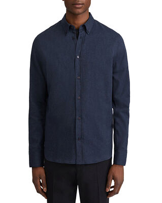 Filippa K M. Lewis Flannel Shirt Dark Blue