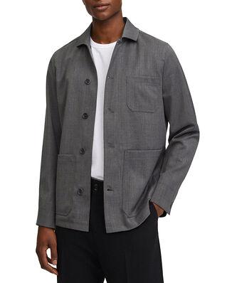 Filippa K M. Louis Gabardine Jacket Grey Melange