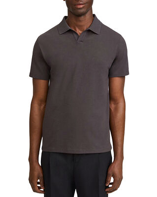 Filippa K M. Lycra Polo T-Shirt Dark Mole