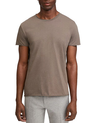 Filippa K M. Roll Neck Tee Dark Taupe
