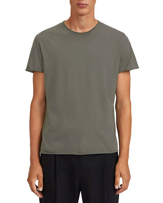 Filippa K M. Roll Neck Tee Green Grey
