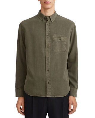Filippa K M. Zachary Tencel Shirt Pine Green