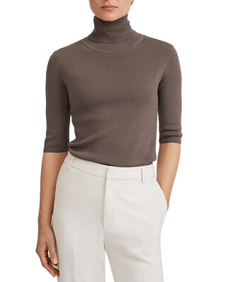 Filippa K Merino Elbow Sleeve Top Dark Taupe