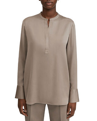 Filippa K Pull-on Silk Blouse Grey Taupe