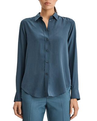 Filippa K Classic Silk Shirt Blue Grey