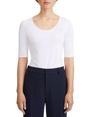 Filippa K Cotton Stretch Scoop Neck Top White