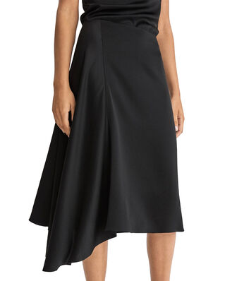 Filippa K Drapey Satin Skirt Black