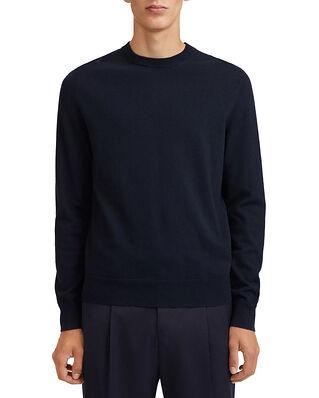 Filippa K M. Cotton Merino Basic Sweater Navy