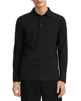 Filippa K M. Luke Lycra Polo Shirt Black