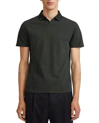 Filippa K M. Lycra Polo T-Shirt Dark Spruc