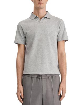 Filippa K M. Lycra Polo T-Shirt Light Grey Mel