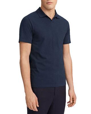 Filippa K M. Soft Lycra Polo T-Shirt Navy