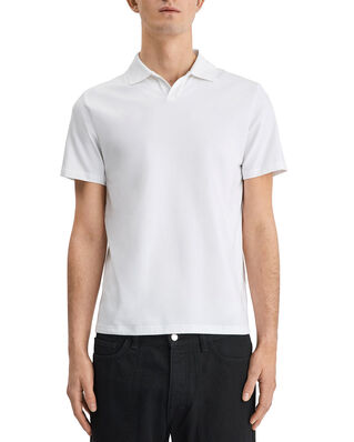 Filippa K M. Lycra Polo T-Shirt White