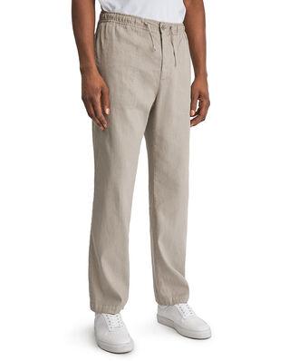 Filippa K M. Theodore Linen Trouser Grey Beige