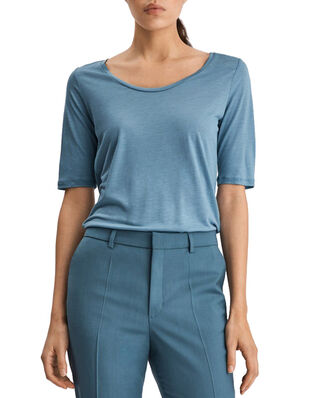 Filippa K Tencel Scoop-neck Tee Blue Heaven