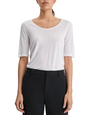 Filippa K Tencel Scoop-neck Tee White
