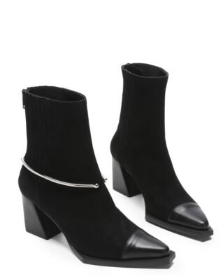 Flattered Lena Lademann Black Suede/Black Nappa Black