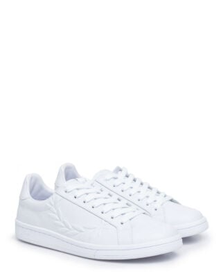 Fred Perry B5150 B721 Embossed Laurel Lth White