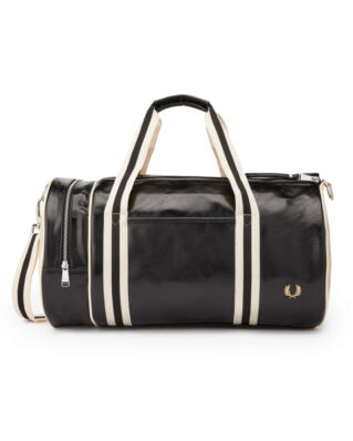 Fred Perry Classic Barrel Bag Black/Ecru