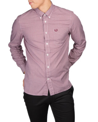 Fred Perry Classic Gingham Shirt 799 Mahogany