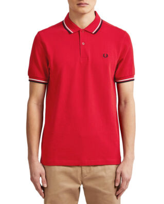 Fred Perry M3600  Twin Tipped Fp Shirt Red/Wht/Navy