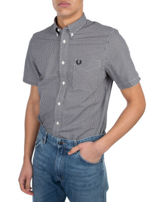 Fred Perry M6378 Classic Gingham Shirt Black