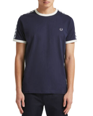 Fred Perry Taped Ringer T-Shirt Carbon Blue-Import FW19