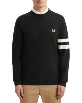 Fred Perry Tipped  C/N Jumper Black