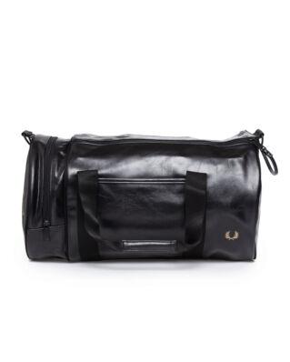 Fred Perry Tonal Pu Barrel Bag Black