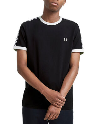 Fred Perry Taped Ringer T-Shirt Black